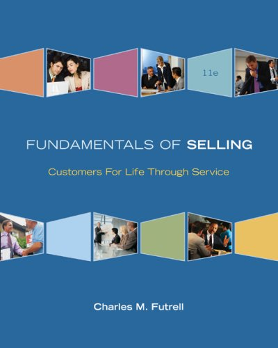 Fundamentals of Selling  11th 2009 edition cover