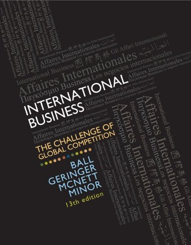 International Business The Challenge of Global Competition 13th 2013 edition cover