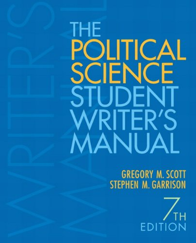 Political Science Student Writer's Manual  7th 2012 edition cover