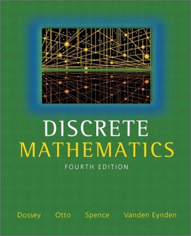 Discrete Mathematics  4th 2002 9780321079121 Front Cover