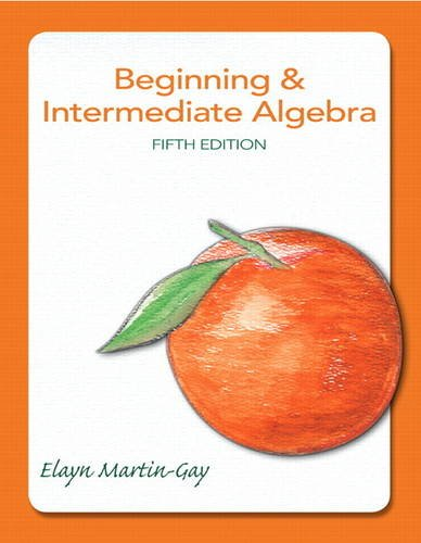 Beginning and Intermediate Algebra  5th 2013 (Revised) 9780321785121 Front Cover