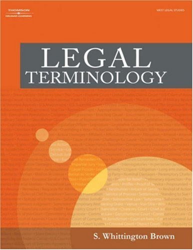 Legal Terminology   2006 edition cover