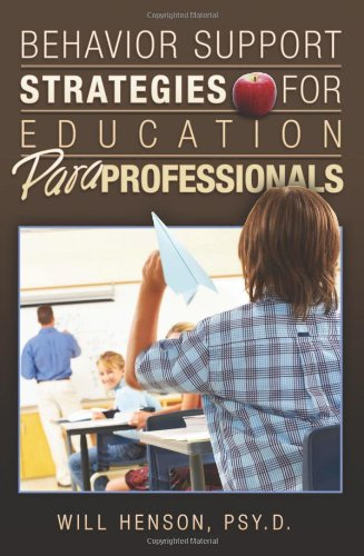 Behavior Support Strategies for Education Paraprofessionals  N/A edition cover