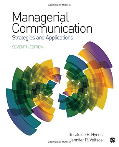 Managerial Communication Strategies and Applications 7th 2019 9781506365121 Front Cover