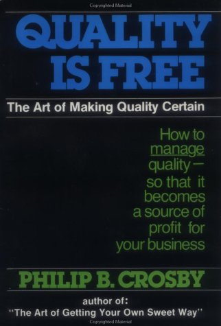 Quality Is Free The Art of Making Quality Certain  1979 edition cover