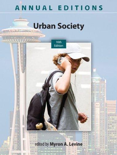 Urban Society:   2013 edition cover