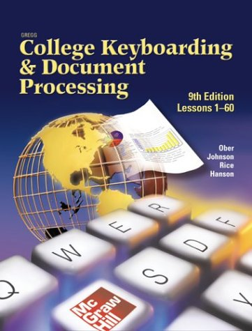 Gregg College Keyboarding and Document Processing: For Word 2002, Kit 1 (Lessons 1-60) 9th 2003 edition cover