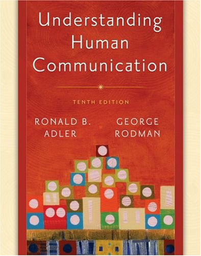 Understanding Human Communication  10th 2009 edition cover