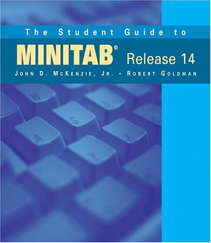 Student Guide to MINITAB Release 14  5th 2005 9780321113122 Front Cover