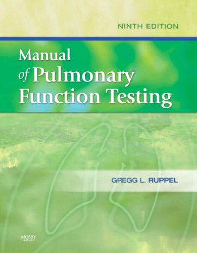 Manual of Pulmonary Function Testing  9th 2008 edition cover