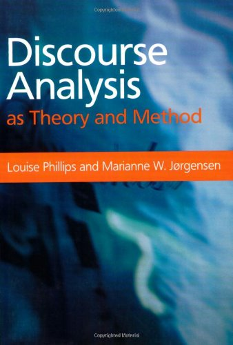 Discourse Analysis as Theory and Method   2002 edition cover