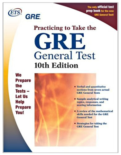 GRE� Practicing to Take the General Test 10th 2003 edition cover