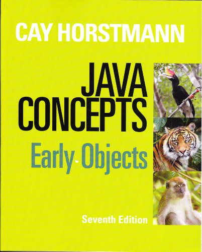 Java Concepts  7th 2013 edition cover