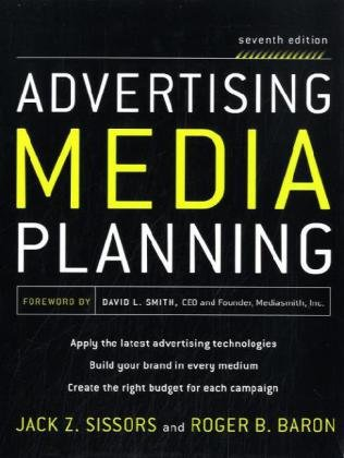 Advertising Media Planning  7th 2010 edition cover