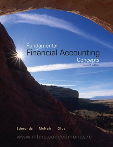 Fundamental Financial Accounting Concepts  7th 2011 edition cover