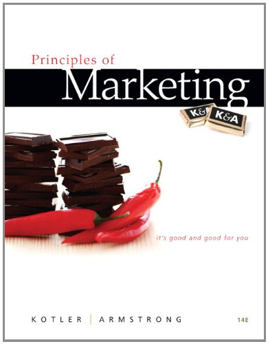 Principles of Marketing  14th 2012 edition cover
