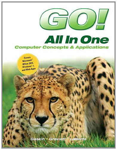 Go! All in One Computer Concepts and Applications  2013 edition cover