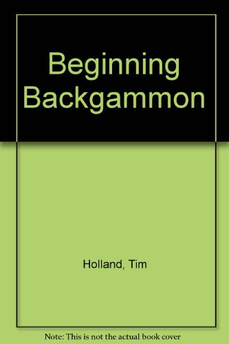 Beginning Backgammon   1975 edition cover