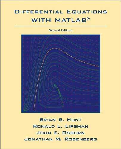 Differential Equations with Matlab  2nd 2005 (Revised) edition cover