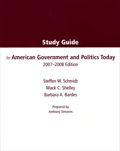American Government and Politics Today 2007-2008 1st 2007 9780495127123 Front Cover