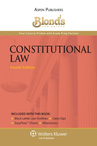 Blonds Constitutional Law  Student Manual, Study Guide, etc. edition cover