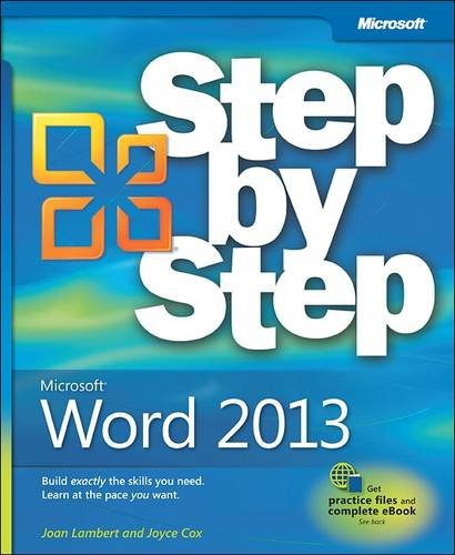 Microsoft� Word 2013   2013 edition cover