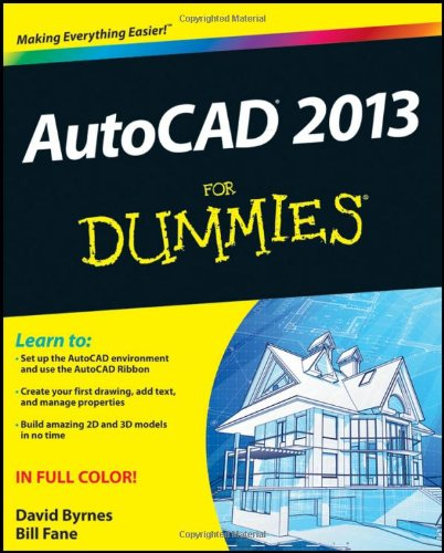 AutoCAD 2013 for Dummies   2012 edition cover