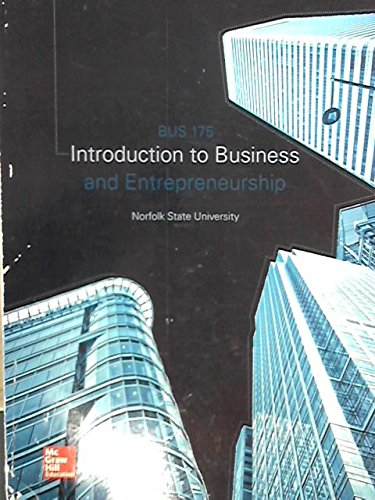 INTRODUCTION TO BUSINESS >CUSTOM<       N/A 9781259382123 Front Cover