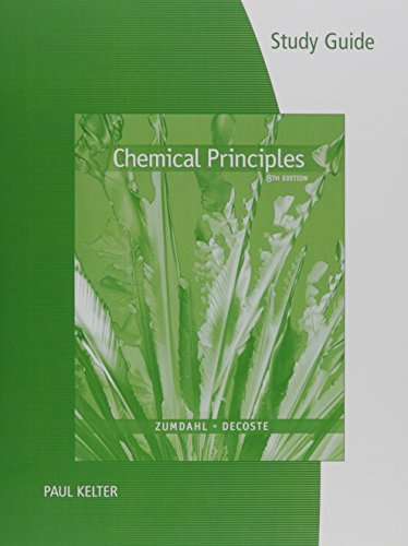 Study Guide for Zumdahl/DeCoste's Chemical Principles, 8th  8th 2017 (Revised) 9781305867123 Front Cover