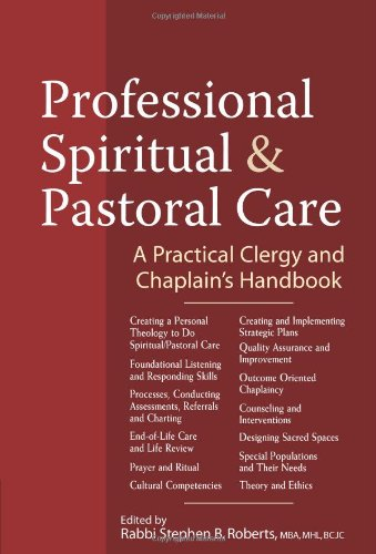 Professional Spiritual and Pastoral Care A Practical Clergy and Chaplain's Handbook  2011 edition cover