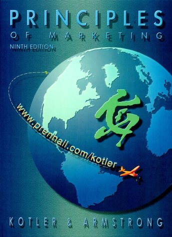 Principles of Marketing  9th 2001 edition cover