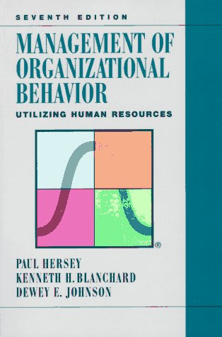 Management of Organizational Behavior Leading Human Resources 7th 1996 9780132441124 Front Cover