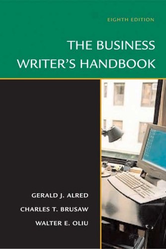 Business Writer's Handbook  8th 2006 9780312436124 Front Cover