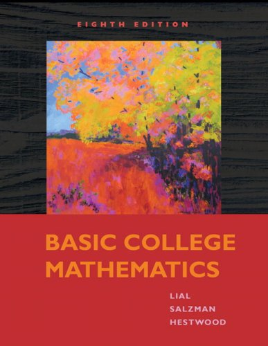Basic College Mathematics  8th 2010 edition cover
