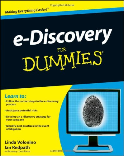 E-Discovery for Dummies   2010 edition cover