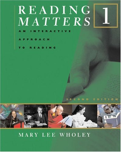 Reading Matters An Interactive Approach to Reading 2nd 2007 edition cover