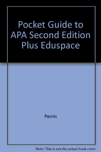 Pocket Guide to Apa Second Edition Plus Eduspace 2nd 2007 9780618727124 Front Cover