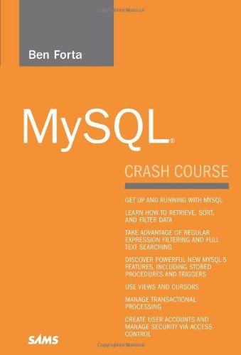 MySQL Crash Course   2006 edition cover