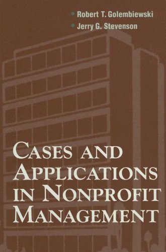 Cases and Applications in Nonprofit Management   1998 9780875814124 Front Cover