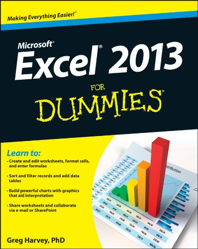 Excel 2013 for Dummies   2013 edition cover