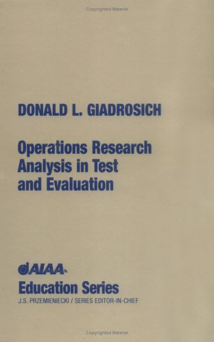 Operations Research Analysis in Quality Test and Evaluation  N/A 9781563471124 Front Cover