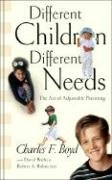 Different Children, Different Needs Understanding the Unique Personality of Your Child  1994 edition cover