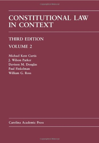 Constitutional Law in Context Volume 2 3rd 2010 edition cover