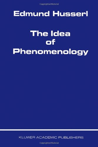 Idea of Phenomenology   1999 edition cover