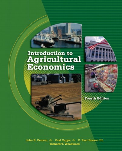 Introduction to Agricultural Economics  4th 2006 (Revised) 9780131173125 Front Cover