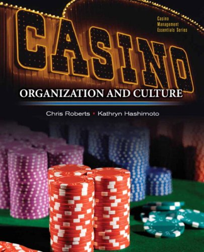 Casinos Organization and Culture  2010 9780131748125 Front Cover