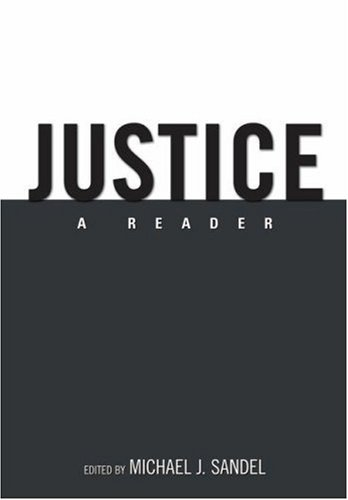 Justice A Reader  2007 9780195335125 Front Cover