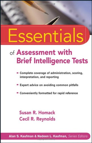 Essentials of Assessment with Brief Intelligence Tests   2007 9780471264125 Front Cover