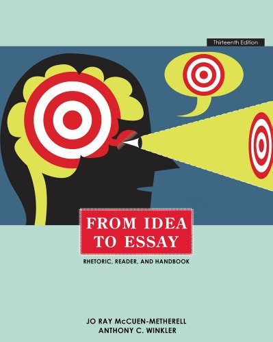 From Idea to Essay  13th 2012 edition cover