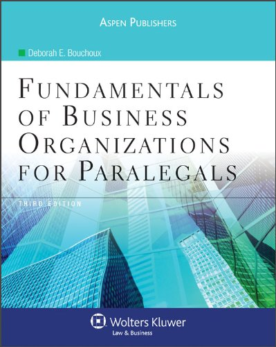Fundamentals of Business Organizations for Paralegals  3rd 2009 (Revised) edition cover